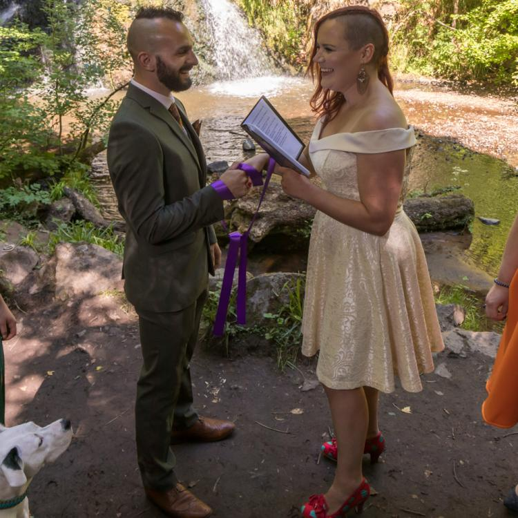 Fairy Glen Waterfall Wedding