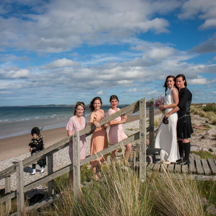 Findhorn Beach Wedding