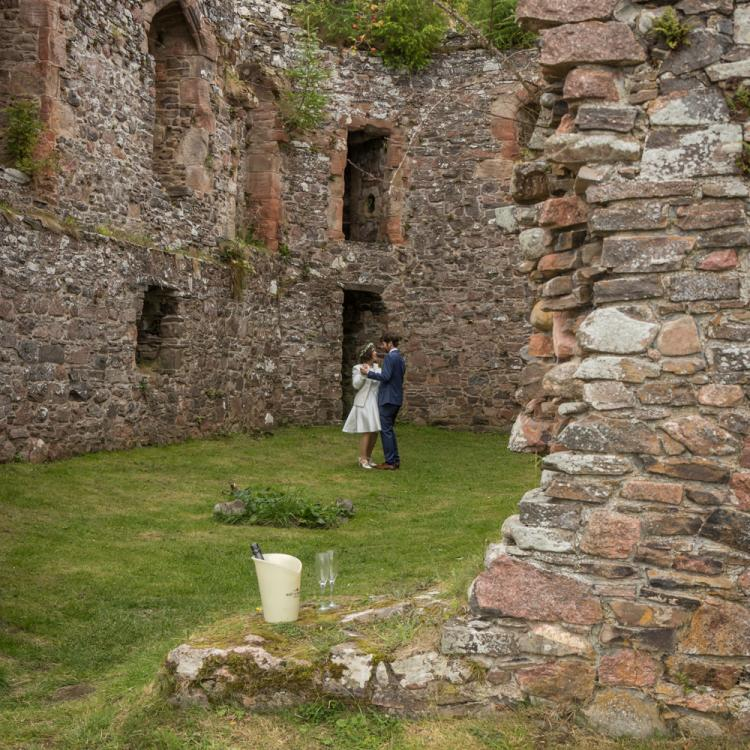 Secret Elopement Ruined Castle Scotland